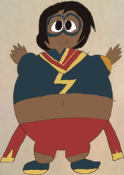 Inflated Ms Marvel Rising colored by Montyclan