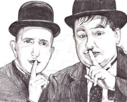 Laurel and Hardy by marmicminipark