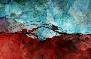 Red Earth Abstract by StarwaltDesign