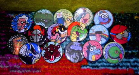 All my new pins I made to end off the year by TheRandomGirlXD