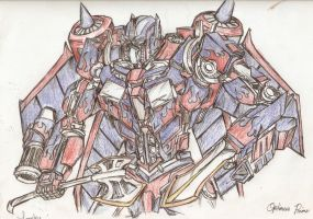 Optimus Prim(Jetfire powered) by lomzky
