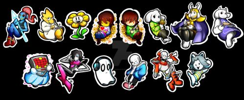 Undertale Stickers by Smudgeandfrank