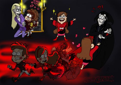 Vampires in Gravity Falls (the panel) by Flive-aka-Nailan