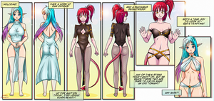 ADOPT AUCTION #13// Elven Beauty and Succubus by Shadako26