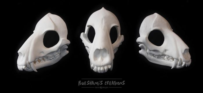 Wold Skull Mask - Full - BLANK by Bueshang