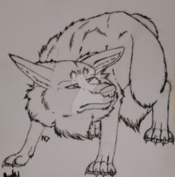 .:Disappointed Canine Lineart:. by Nephilim-Draugwen