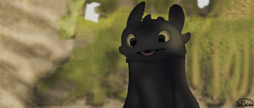 Toothless by AnDrewDrawsArt