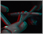 3D anaglyph Star Trek Continues GIF by gogu1234