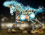 Clockwork Pony from Ponyfinder by amalgamzaku