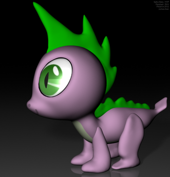 Spike - WIP - March 2012 - OLD by VeryOldBrony