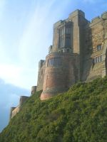 Bamburgh Castle detail by Queenselphie