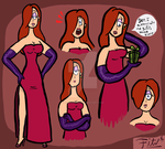 Jessica Rabbit Drawings by fitzsanchez