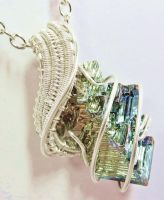 Bismuth Pendant in Tarnish-Resistant Silver (52) by HeatherJordanJewelry