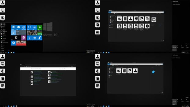 Windows 10 Black edition preview by Moonnique