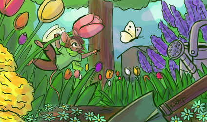 Mouse in the Garden by Friendlyfoxpal