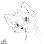 Dominoclaw - Headshot Sketch Commission by JB-Pawstep