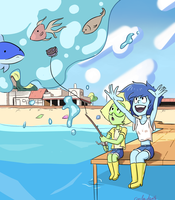 Fishing :3 by coolerdeath