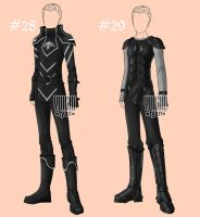 [closed] Auction BW Outfit male 28-29 by YuiChi-tyan