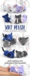 Rat Plush Sewing Pattern by SewDesuNe
