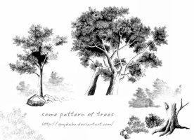 some pattern of trees by quybaba