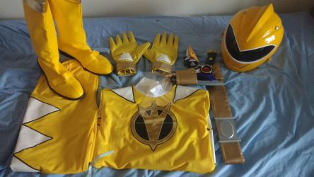 Finished costume - AbareYellow by LostCause26