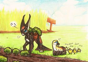 Prompt #33. On The Farm (EVOLOONS) by CoffeeAddictedDragon