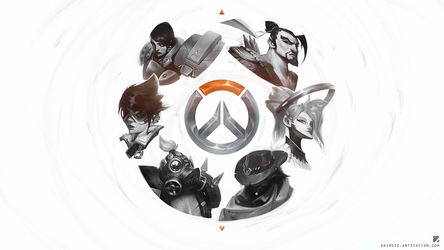 Overwatch sketches wallpaper by kairuiz