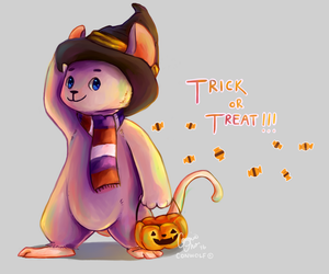 Spoop Mouse trick or treat (speedpaint link) by conwolf