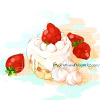 strawberry cake by luthienelf
