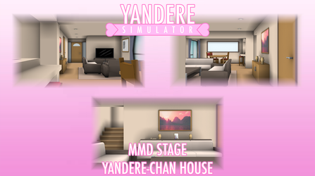 [MMD] Yandere Sim. Stage - Yandere-chan House by i-see-you1