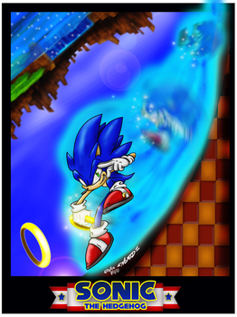 -The Blue Blur- by Nomad-The-Hedgehog