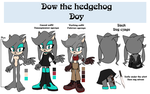 Dow the hedgehog reference by lizathehedgehog