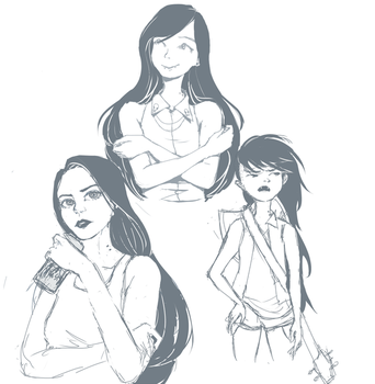 some Marcelines by Cherriie-pops