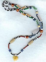 Beaded Hippy Necklace by shetakaey