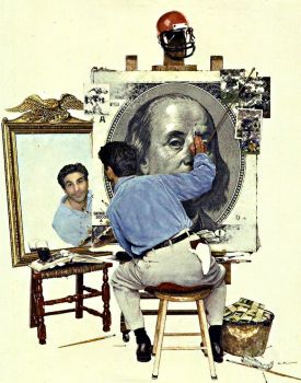 The Gambler's Self Portrait by SpazedOut