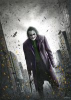 Joker Batman: The Dark Knight by Bajan-Art
