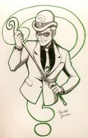 Riddler sketch commission by LucianoVecchio