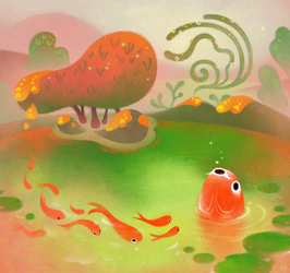 Fish pond by pikaole