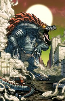 Feraligator Kaiju by mikegoesgeek