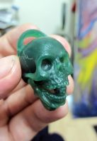 Wax Skull one inch by angotti81