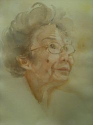 portrait of an old lady by Teadepartment
