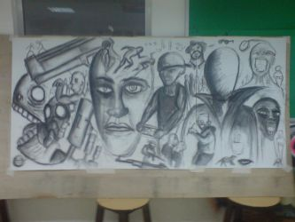 Scribble Wall no.1 by Zayd