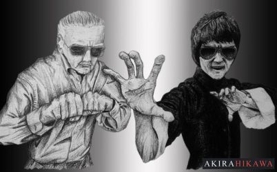 Stan Lee and Bruce Lee (Request) by AkiraHikawa