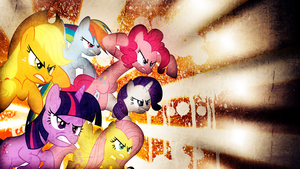 Mane 6 Grunge Wallpaper by TygerxL