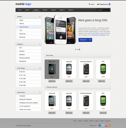 Mobile Shop Template by TheLyrebird
