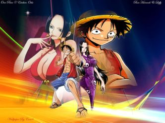 Boa Hancock and Luffy (Wallpaper 644) by cam6