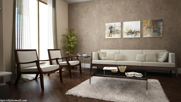 Living Room. by akcalar
