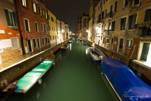 NIght canal by Sockrattes