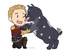 Commander and his pup by Rainbowwbroker