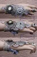 Openwork Snow Queen cuff by Pinkabsinthe
